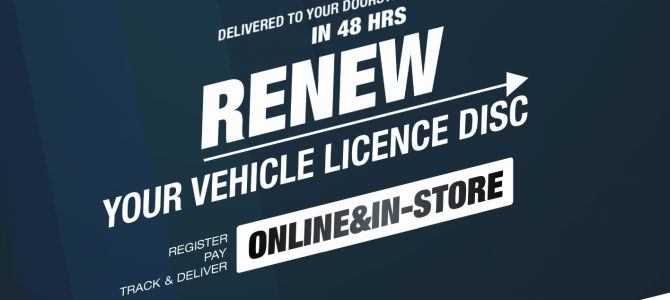 Renew your vehicle licence disc online in 3 easy steps